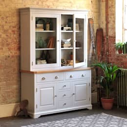 Boston Light Grey Dresser: country Dining room by The Cotswold Company