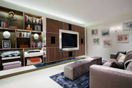 modern Media room by RBD Architecture & Interiors