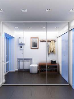 Corridor & hallway by Дизайн студия Александра Скирды ВЕРСАЛЬПРОЕКТ