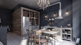 industrial Kitchen by homify