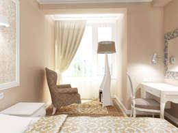 Квартира с акцентом: Спальни в . Автор – Дизайн студия Александра Скирды ВЕРСАЛЬПРОЕКТ