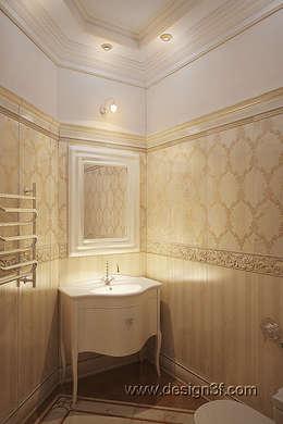 студия Design3F의  화장실