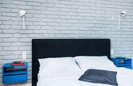 Francja na Powiślu: styl , w kategorii Sypialnia zaprojektowany przez EG Projekt