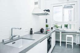 Francja na Powiślu: styl , w kategorii Kuchnia zaprojektowany przez EG Projekt