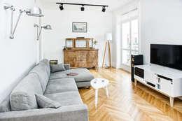 Francja na Powiślu: styl , w kategorii Salon zaprojektowany przez EG Projekt