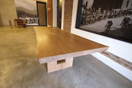 rustic Dining room by holz elf ®