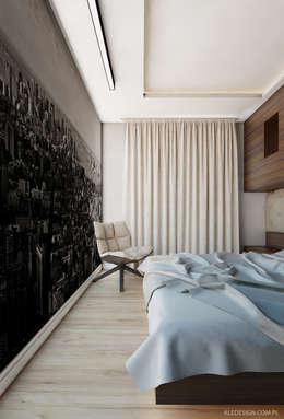 Projekt mieszkania 55m2 w Dąbrowie Górniczej: styl , w kategorii Sypialnia zaprojektowany przez Ale design Grzegorz Grzywacz