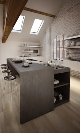 minimalistic Kitchen تنفيذ alessandro mimiola