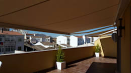 Projekty,  Balkon, weranda i taras zaprojektowane przez TOLDOS TOLVEN