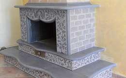 rustikale Wohnzimmer von Basalto Creations  di Spadaccia Antonella