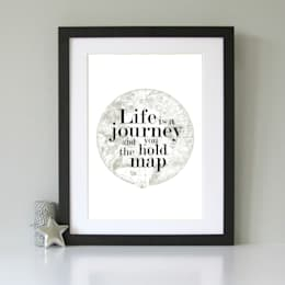 Life is a journey old world map vintage art print:  Artwork by Always Sparkle