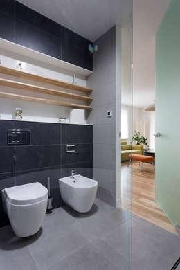 łazienka: styl , w kategorii Łazienka zaprojektowany przez Jacek Tryc-wnętrza