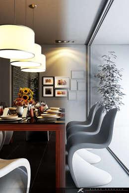 SK ARCHITECTURAL VISUALIZATION – Yemek Odası (Dinning Room): modern tarz Yemek Odası