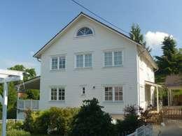 Projekty, skandynawskie Domy zaprojektowane przez Skan-Hus GmbH