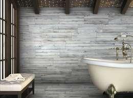 Decapé Gres imitación a madera: Baños de estilo rústico de INTERAZULEJO