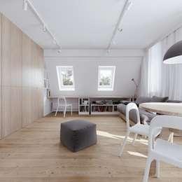 minimalistic Study/office by 081 architekci