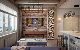 Квартира на ул. Савушкина: Гостиная в . Автор – HOMEFORM Студия интерьеров