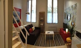 Panoramique de la pièce à vivre: Salon de style de style eclectique par ça sera chez moi !