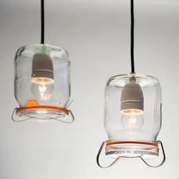 Weck Lamp: moderne Woonkamer door Chris Ruhe Meubelkunst