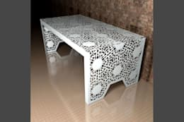 modern Dining room by Laser cut Furniture & Screens