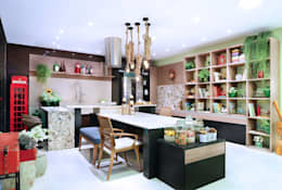 eclectic Kitchen by Adriana Scartaris design e interiores