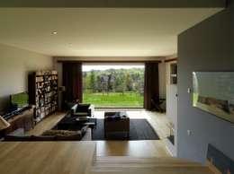 Dom w Burowie: styl , w kategorii Salon zaprojektowany przez WIZJA
