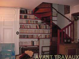 Rénovation appartement A. Lyon (6ème): Salon de style de style Classique par Marion Bochirol Architecte d'Intérieur CFAI