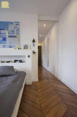 Rénovation appartement A. Lyon (6ème): Chambre de style de style Moderne par Marion Bochirol Architecte d'Intérieur CFAI