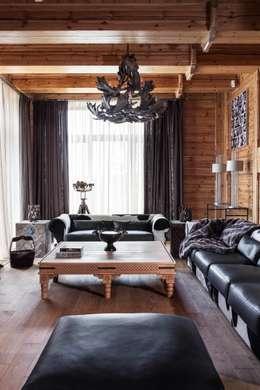 Архитектор Татьяна Стащук: rustik tarz tarz Oturma Odası