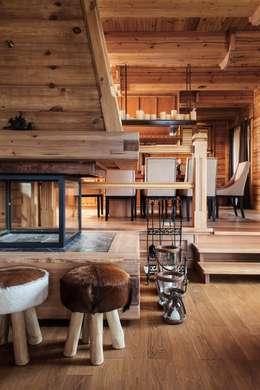 Salle à manger de style de style Rustique par Архитектор Татьяна Стащук