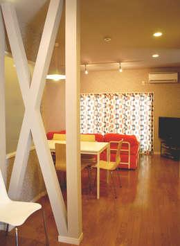 早稲田のシェアハウス: 奥村召司+空間設計社が手掛けたダイニングです。