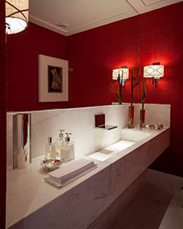 lavabo: Banheiros ecléticos por korman arquitetos