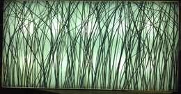 gras display: moderne Woonkamer door studio picus