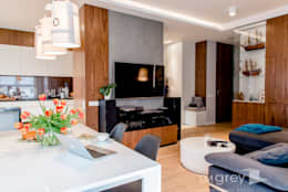 Modern Apartment - 100m2: styl , w kategorii Salon zaprojektowany przez TiM Grey Interior Design