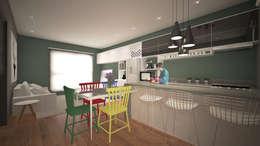 Complejo Volcán: Cozinha  por K+S arquitetos associados