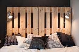 Dormitorios de estilo escandinavo por Raca Architekci