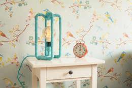 KUBO Lampa Miedziana: styl , w kategorii Domowe biuro i gabinet zaprojektowany przez ZAPALGO