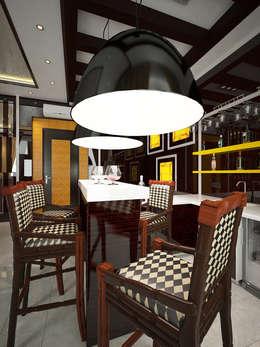 eclectic Living room by Дизайн студия Александра Скирды ВЕРСАЛЬПРОЕКТ