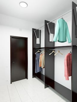 eclectic Dressing room by Дизайн студия Александра Скирды ВЕРСАЛЬПРОЕКТ