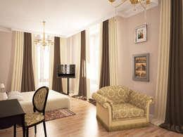 eclectic Bedroom by Дизайн студия Александра Скирды ВЕРСАЛЬПРОЕКТ