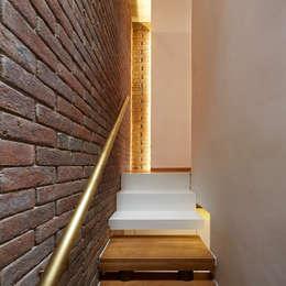 Haringey Brick House:  Corridor & hallway by Satish Jassal Architects