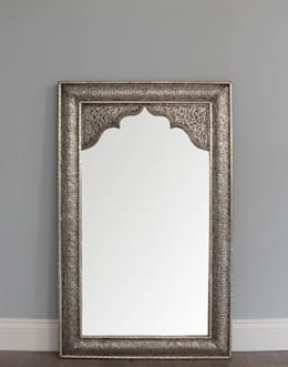 Moroccan Silver Mirror - Antique Finish: mediterranean Dressing room by Moroccan Bazaar