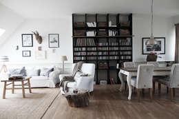 Apartament na Kabatach: styl , w kategorii Salon zaprojektowany przez Studio Inaczej