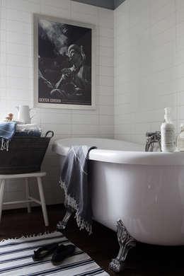 Apartament na Kabatach: styl , w kategorii Łazienka zaprojektowany przez Studio Inaczej