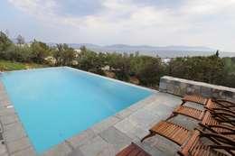 Dettaglio della piscina: Piscina in stile in stile Mediterraneo di CARLO CHIAPPANI  interior designer