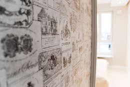 APARTAMENT NA SASKIEJ KĘPIE: styl , w kategorii Ściany i podłogi zaprojektowany przez YNOX Architektura Wnętrz