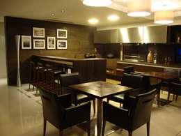 Cozinha do Chef: Cozinhas modernas por Geraldo Brognoli Ludwich Arquitetura