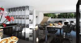 single-family dwelling house: Кухни в . Автор –  Aleksandr Zhydkov Architect