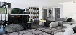 single-family dwelling house: Гостиная в . Автор –  Aleksandr Zhydkov Architect