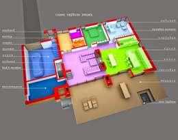 ДОМ В ПОСЕЛКЕ ПОЛИВАНОВО (визуализация): Дома в . Автор –  Aleksandr Zhydkov Architect